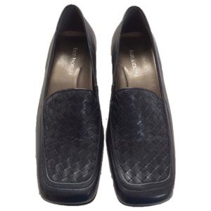 Enzo Angiolini Blue Woven Leather Loafers